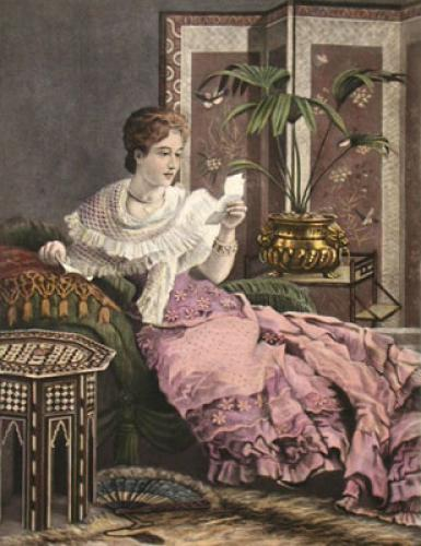 The Love Note (Restrike Etching) by Anonymous
