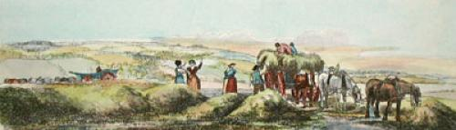 Haymaking (Plate 1) (Restrike Etching) by Anonymous