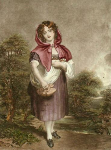 Red Riding Hood (Restrike Etching) by Anonymous
