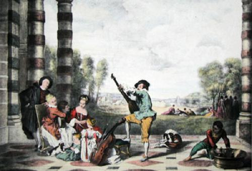 The Music Party (Restrike Etching) by Jean Antoine Watteau