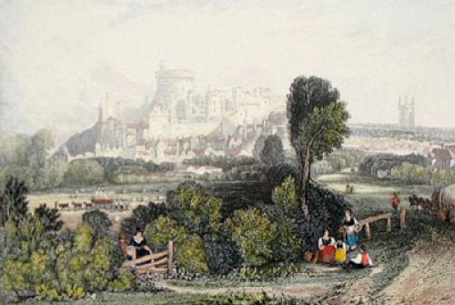 Windsor Castle (Restrike Etching) by Anonymous