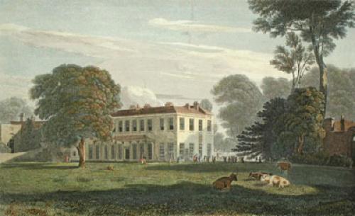 Temple Grove, East Shenn, Surrey (Restrike Etching) by Edmond Dorrell