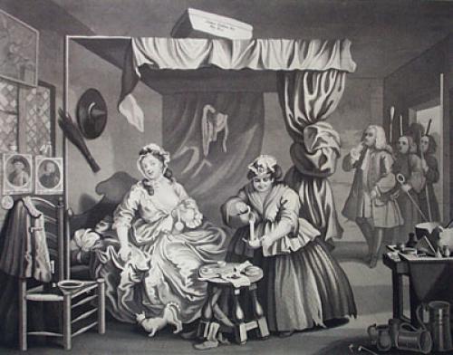 Harlots Progress, Magistrate (Restrike Etching) by William Hogarth