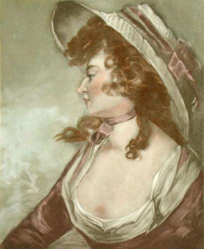 Lady facing left (Restrike Etching) by George Philip Reinagle
