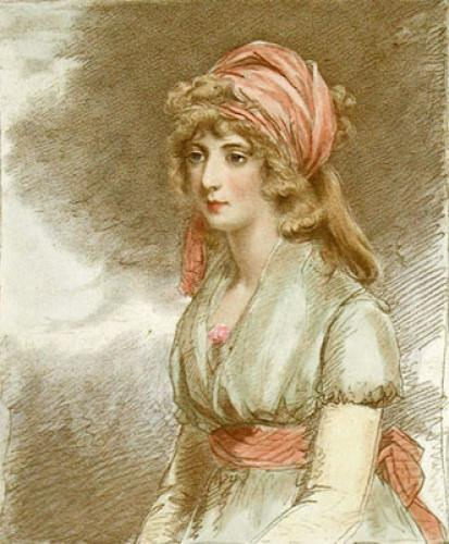 Portrait of a Lady K374 sm. (Restrike Etching) by Anonymous