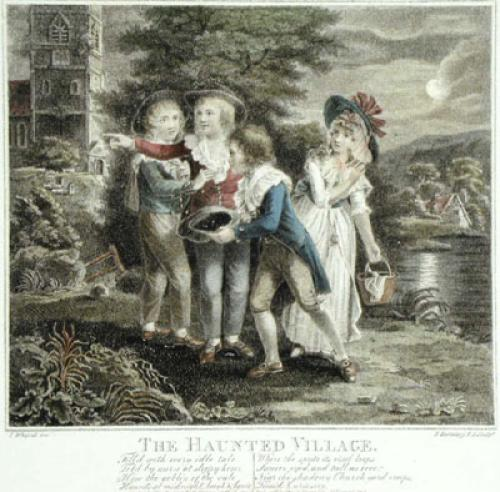 The Haunted Village (Restrike Etching) by I. Whefsell