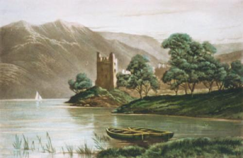 Urquhart Castle, Loch Ness (Restrike Etching) by Anonymous
