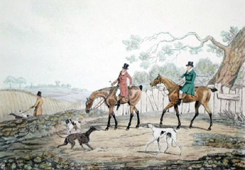 Going Out (Restrike Etching) by Henry Alken