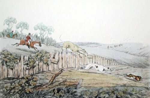 Running in view (Restrike Etching) by Henry Alken