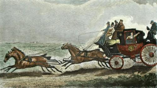 The Road, Pl III (Restrike Etching) by Henry Alken