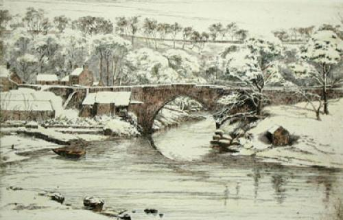 Bridge of Bulgowne, Scotland (Restrike Etching) by Anonymous