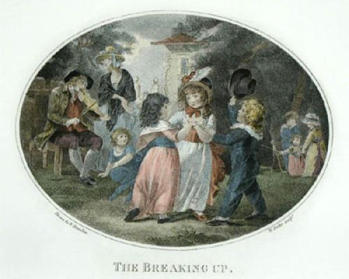 The Breaking Up (Restrike Etching) by William Hamilton