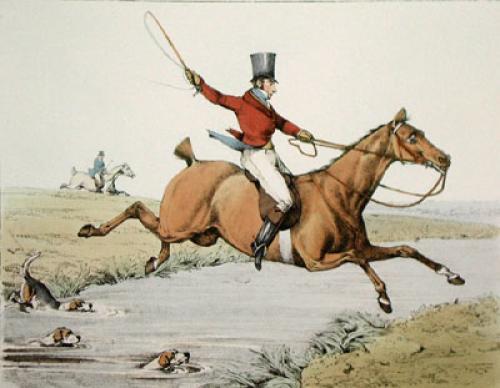 The Hunter (Restrike Etching) by Henry Alken