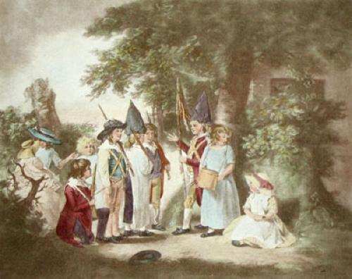 Children Playing Soldiers (Restrike Etching) by George Morland
