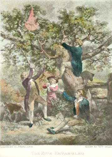 Kite Entangled (Restrike Etching) by George Morland