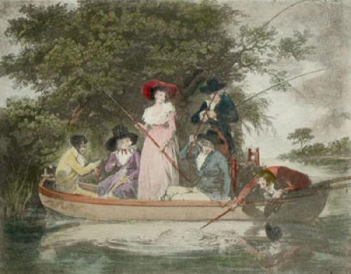 A Party Angling (Restrike Etching) by George Morland