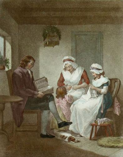 Domestic Happiness (Restrike Etching) by George Morland