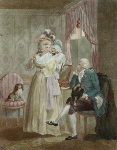 Dressing for the Masquerade (Restrike Etching) by George Morland