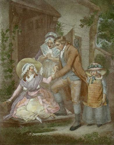 The Fair Penitent (Restrike Etching) by George Morland