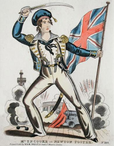Mr T P Cooke as Newton Foster (Restrike Etching) by Anonymous