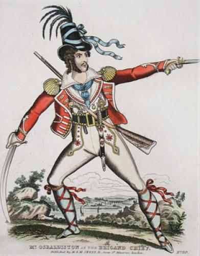 Mr Osbaldiston As The Brigand (Restrike Etching) by Anonymous