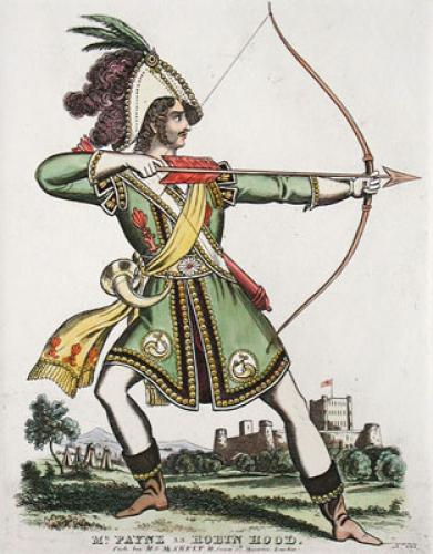 Mr Payne As Robin Hood (Restrike Etching) by Anonymous