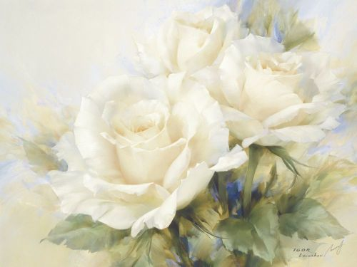 Bouquet Of White Roses by Igor Levashov