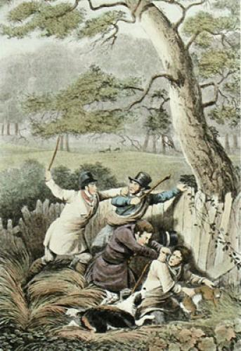 Poachers (Restrike Etching) by Henry Alken