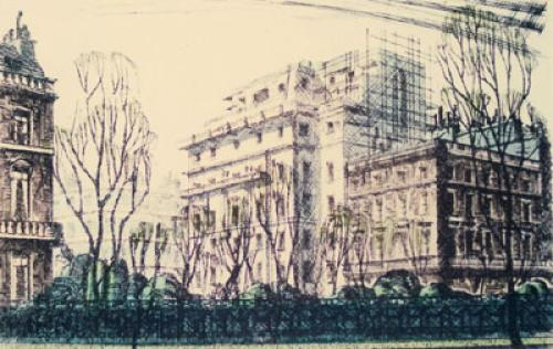 Carlton House Terrace (Restrike Etching) by Anonymous