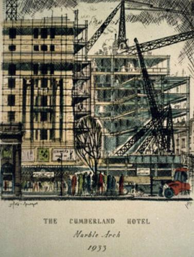 The Cumberland Hotel (Restrike Etching) by Anonymous