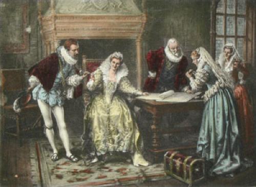 Sir Walter Raleigh (Restrike Etching) by Eva Hollyer