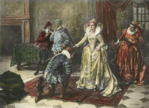 Francis Drake, Knighted (Restrike Etching) by Eva Hollyer