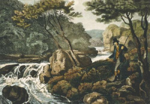 Minnow Fishing (Restrike Etching) by Samuel Howitt