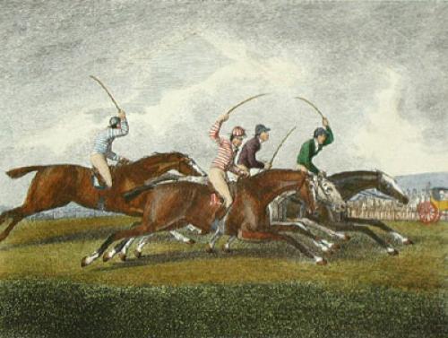 Racing (Restrike Etching) by Samuel Howitt