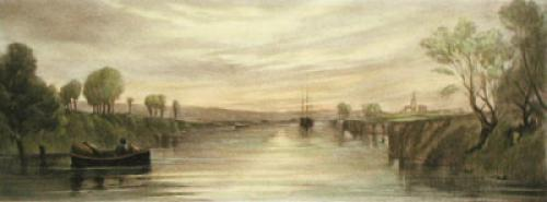 Chichester Canal View (Restrike Etching) by Anonymous