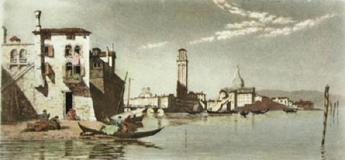 Venice, View of St. Marks (Restrike Etching) by Anonymous