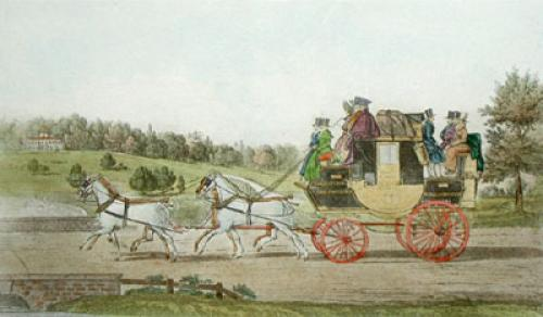 Birmingham Wondor Coach (Restrike Etching) by James Pollard