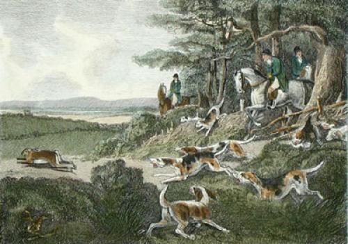 Harehunting, Plate 11 (Restrike Etching) by Samuel Howitt