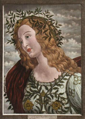 Head of Pallas (Restrike Etching) by Sandro Botticelli