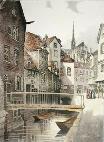 Rouen, France (Restrike Etching) by Anonymous