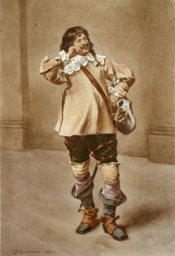Cavalier (Twirling Moustache) (Restrike Etching) by Jean-Louis Ernest Meissonier