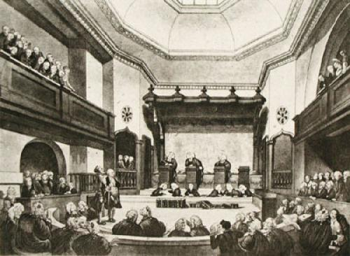 Court of Common Pleas (Restrike Etching) by Thomas Rowlandson