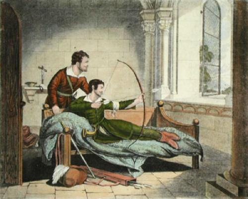 The Death of Robin Hood (Restrike Etching) by Anonymous