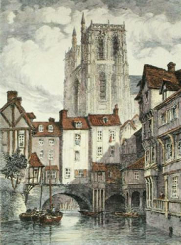 On the Schelde, Belgium (Restrike Etching) by Anonymous
