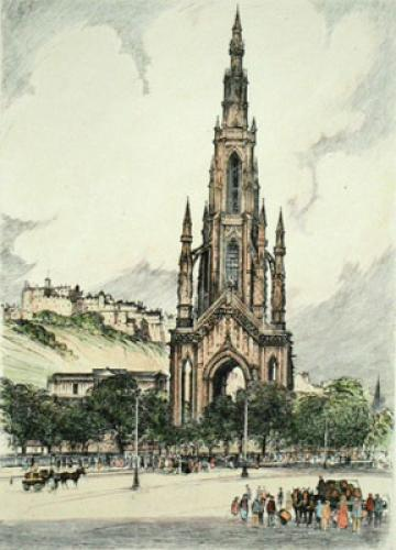 Edinburgh, Scotland (Restrike Etching) by Anonymous