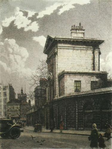 St. Batholomews Hospital (Restrike Etching) by William Monk
