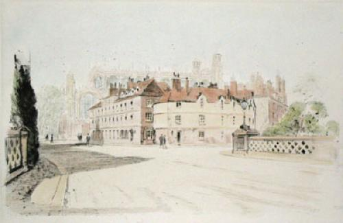 Eton from Barnes Pool Bridge (Restrike Etching) by Anonymous