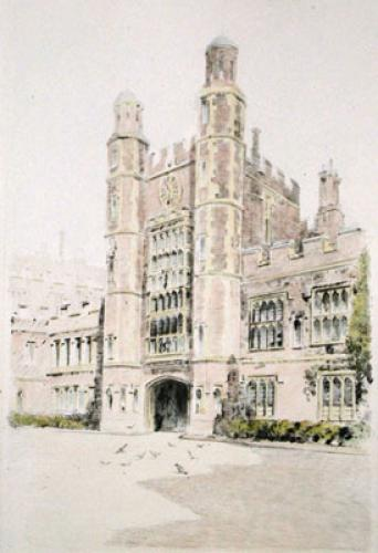 Eton, Luptons Tower (Restrike Etching) by Anonymous