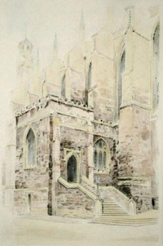 Eton, Chapel Steps (Restrike Etching) by Anonymous
