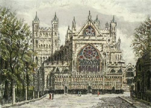 Exeter, Devon (Restrike Etching) by Anonymous